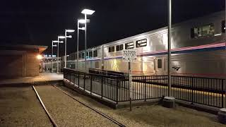 Amtrak #4 Southwest Chief Departs LRC 2/19/2018 With Two Parlor Cars Trailing