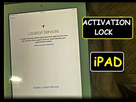 HOW TO REMOVE OR UNLOCK ICLOUD ACTIVATION LOCK ON IPADS