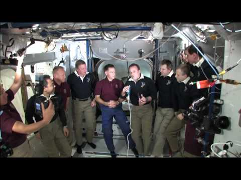 The STS-135 Crew Farewell Ceremony and Hatch Closing