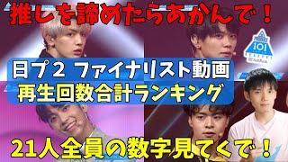 【日プ2】最終回放送前ラスト動画!再生数1位から21位を発表![PRODUCE 101 JAPAN SEASON2]