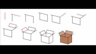 How To Draw A Cardboard Box Step By Step Drawing Tutorial