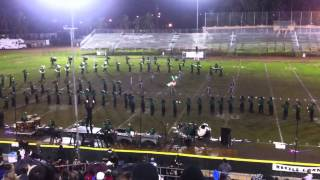 "Mira Costa High School Marching Band and Colorguard perfrom ""Electropolis"" at Savanna Tournament"