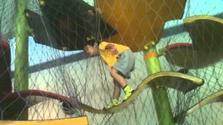 Yamato at the indoor jungle gym at Lincoln Park Zoo - Part 3
