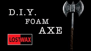 How To Make A Foam Battle Axe. DIY Costume Prop. Great For Halloween!