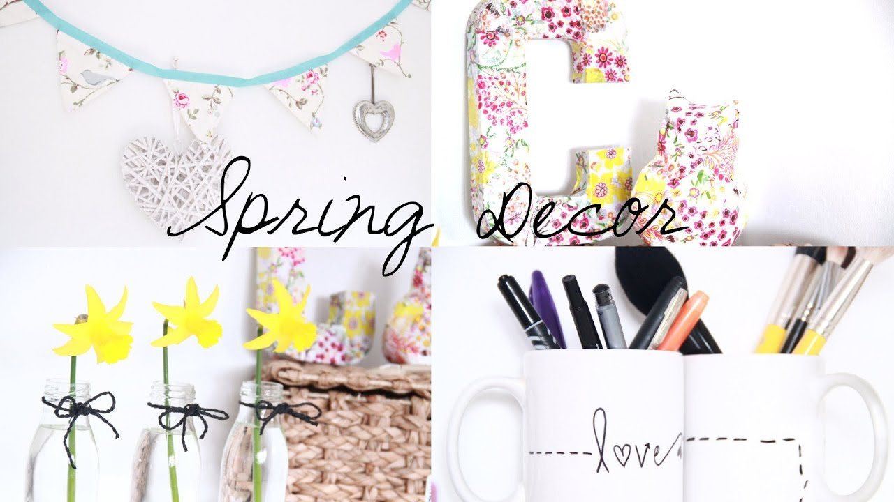 DIY Spring Room Decor Inspiration - YouTube on halloween for bedrooms, window treatments for bedrooms, decorative lights for bedrooms, small spaces for bedrooms, christmas for bedrooms, printables for bedrooms, storage for bedrooms, design for bedrooms, diy for bedrooms, silk flowers for bedrooms, decorative pillows for bedrooms, furniture for bedrooms, home decor for bedrooms, art for bedrooms, color for bedrooms, organization for bedrooms, window seats for bedrooms,