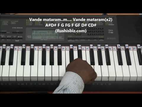 Maa Tujhe Salaam (AR.Rehman)......!!!  Piano Tutorials... (Vande mataram)