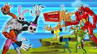 Mega Siren Head, Anteo Vs Mr. Hopp's Transformation Playhouse 2 | Roblox Piggy Animation | GV Studio