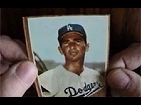 1962 Koufax Baseball Card Cello Pack Break