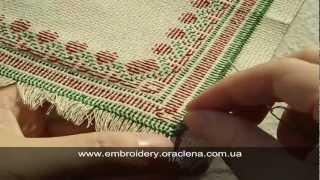 Оформление края салфетки в виде бахромы