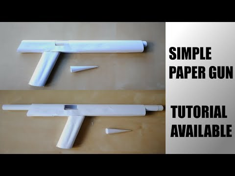How to make Simple Paper Pistol that Shoots HARD!!!