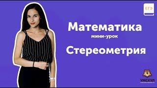 Стереометрия | Математика ЕГЭ 2019 | Мини-урок | УМСКУЛ