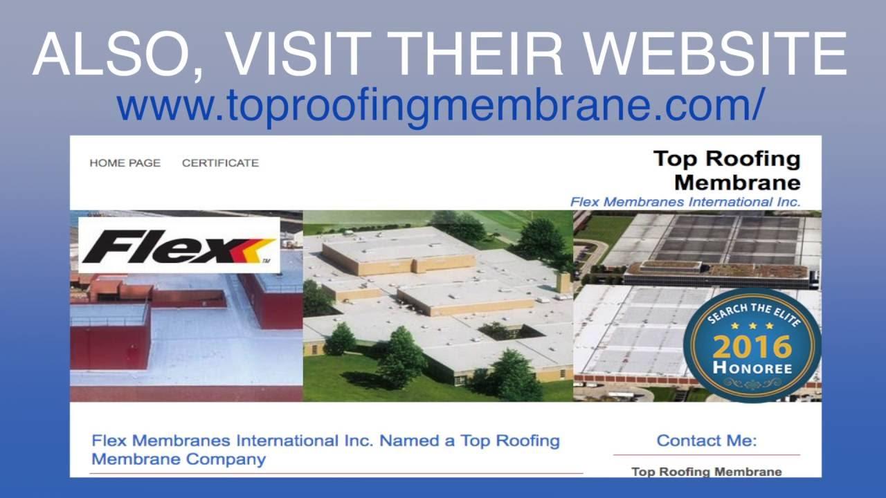 Flex Membranes International Inc. Named A Top Roofing Membrane Company