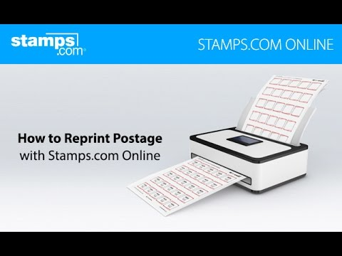 How to Reprint Postage - Stamps com Online
