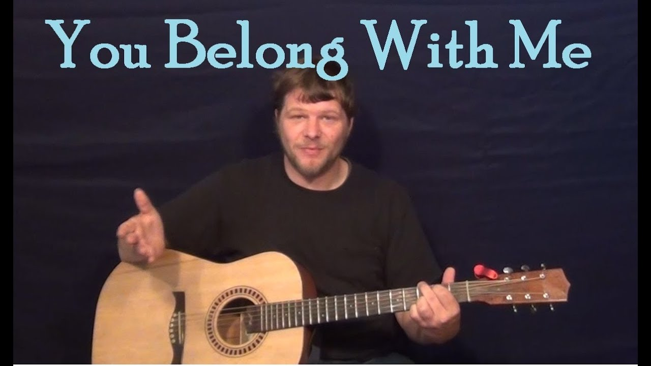 You Belong With Me Taylor Swift Easy Guitar Lesson How To Play