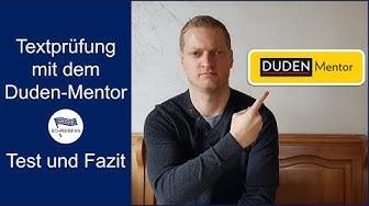 Textprüfung mit dem Duden-Mentor | Test