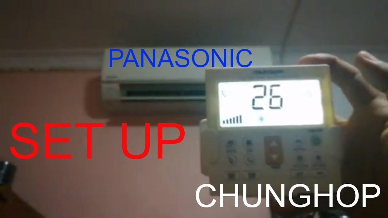 How Chunghop Universal AC remote set up K-650E