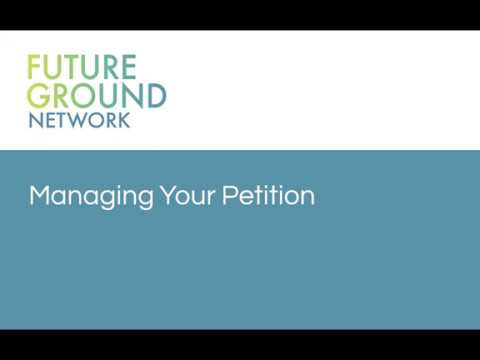 3. Managing Your Petition