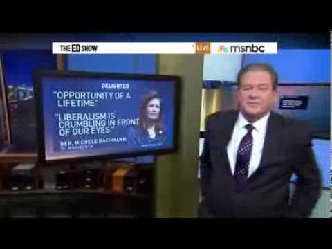 Ed Schultz, Judge of Patriotism - Michele Bachmann 'Is Anti American'