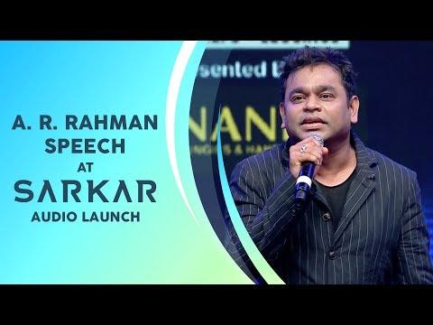 AR Rahman Speech | Sarkar Audio Launch