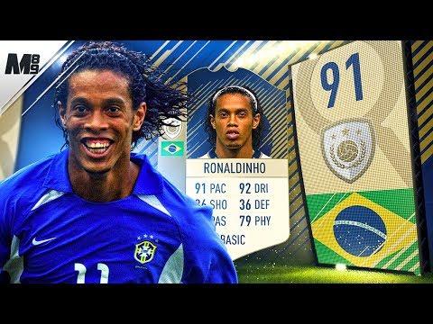 FIFA 18 ICON RONALDINHO REVIEW   91 ICON RONALDINHO PLAYER REVIEW   FIFA 18 ULTIMATE TEAM