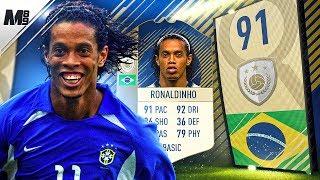 FIFA 18 ICON RONALDINHO REVIEW | 91 ICON RONALDINHO PLAYER REVIEW | FIFA 18 ULTIMATE TEAM