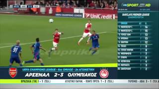 Arsenal - Olympiacos (2-3) All Goals and full Highlights 29/10/15