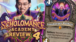 INSANE New Cards!! - Scholomance Academy Review #4 | Hearthstone