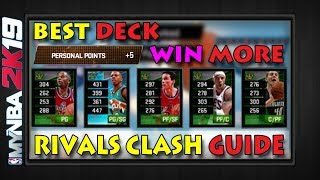MyNBA2k19   RIVALS CLASH GUIDE   Best Deck To Get More +5 Wins In RC   Tips & Strategy  