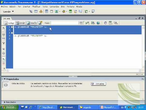 Videotutorial 2 ASP y SQL Server