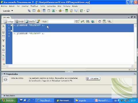 Videotutorial 2 ASP y SQL Server