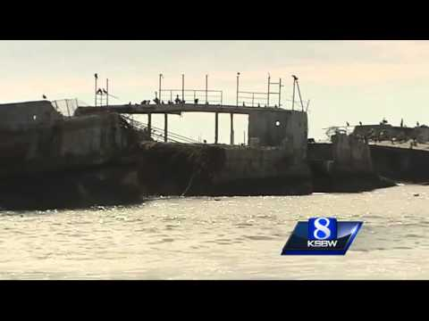 Cement Ship Shifting At Seacliff Beach
