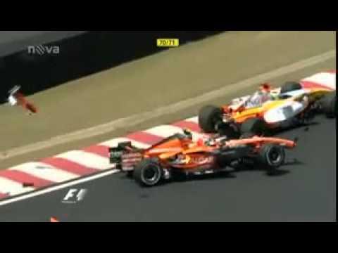 Yamamoto Brazil GP 2007 big crash