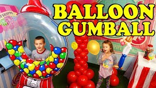 Giant BALLOON GUMBALL Machine In Our Toy Office + Kids Toy Vlog