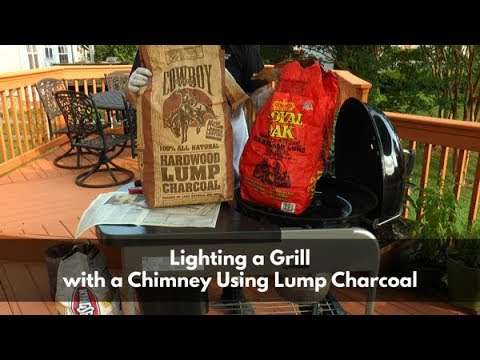 Lighting A Grill With A Chimney Using Lump Charcoal | Briquettes Vs. Lump Charcoal | Tip Of The Week