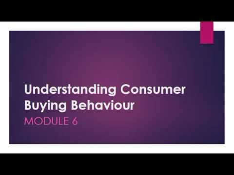 Understanding Consumer Buying Behaviour MODULE 6