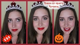 Last Minute Queen Of Hearts Halloween Tutorial (makeup + Costume)!