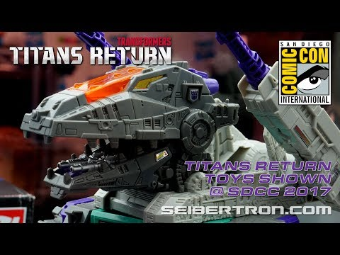 Transformers Titans Return toy products shown at SDCC 2017