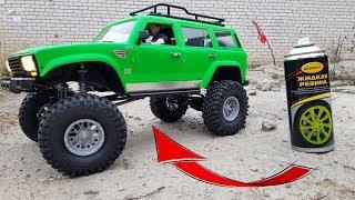 Покрасил ЖИДКОЙ РЕЗИНОЙ кузов внедорожника! Новый Demon CrossRC SU4A