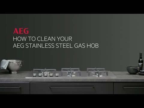 How to clean your AEG stainless steel gas hob