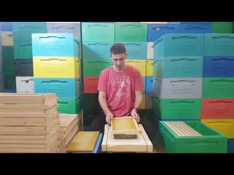 Наващивание рамок 2000 шт в день. Промышленное пчеловодство. Пасека Жмайловых(Буржуй).