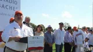 Beto Silva Inaugura Javier Duarte estadio de béisbol en Santiago de la Peña 21 Octubre 2012