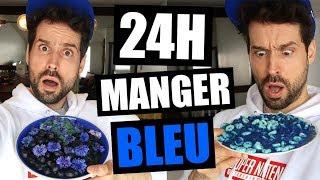 JE MANGE QUE LA NOURRITURE BLEUE PENDANT 24H - HUBY