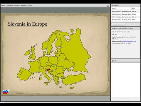 Introduction to Slovenian Research - Milan Pohontsch