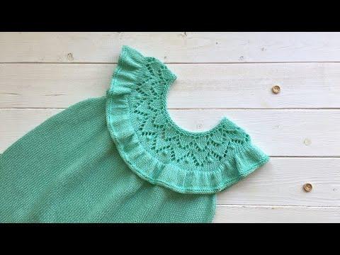 Платье для девочки вязаное спицами 1 год