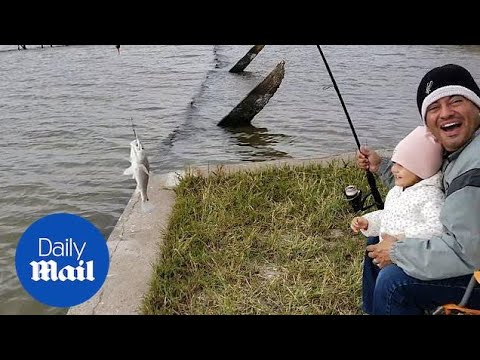 Toddler Is Filled With Joy As She Catches Her First 'baby Shark'!