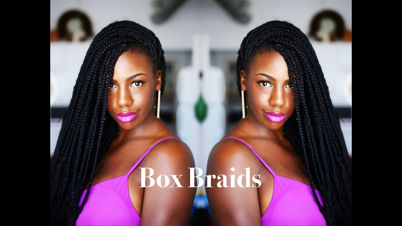 Box Braids Natural Hair Protective Style YouTube