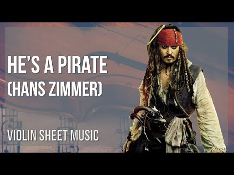 EASY Violin Sheet Music: How to play He's A Pirate by Hans Zimmer