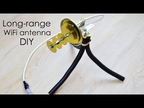How to make long-range WiFi antenna at home