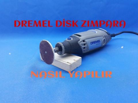 DREMEL DISC SANDER MAKE (Dremel Disk Zımpara Yapımı)