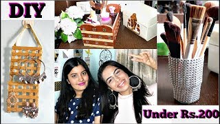 DIY Room Decor / Organization and Storage ( Under Rs.200 ) ft. RiyaBeauty